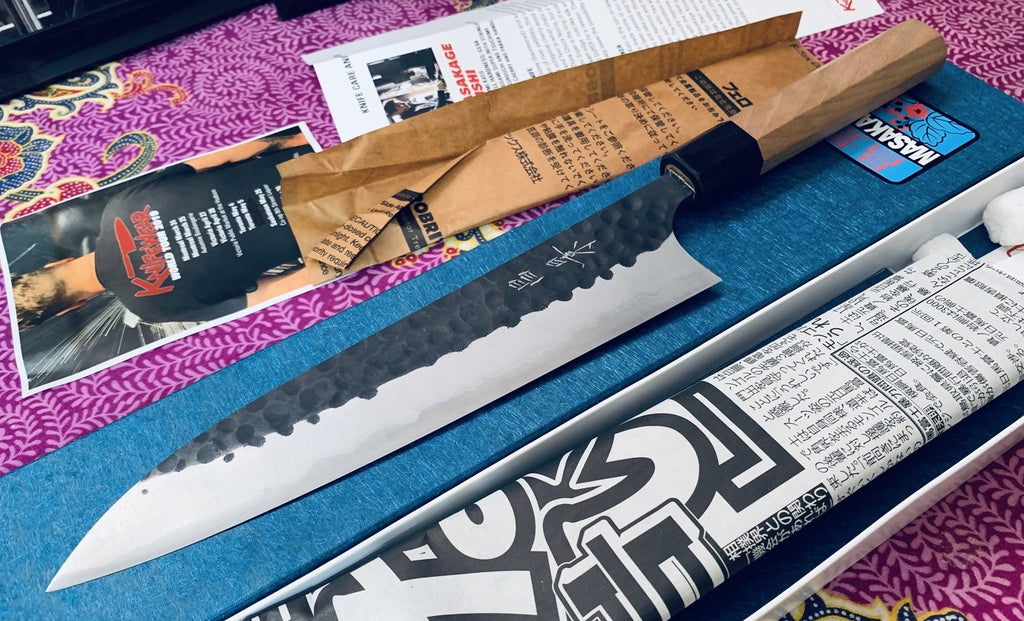 Photo taken by Customer Derek S. for his review on the knife.