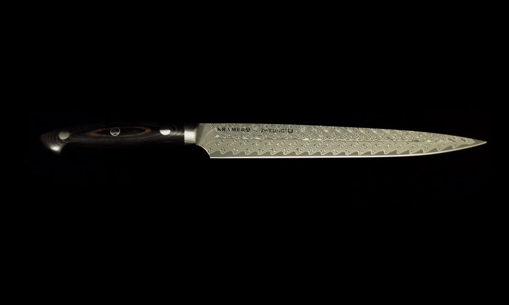 Bob Kramer Euro Damascus Slicer 225mm