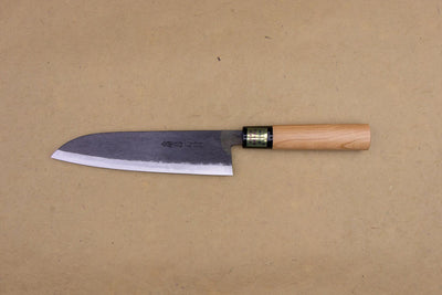 Moritaka AS Kurouchi Santoku 185mm