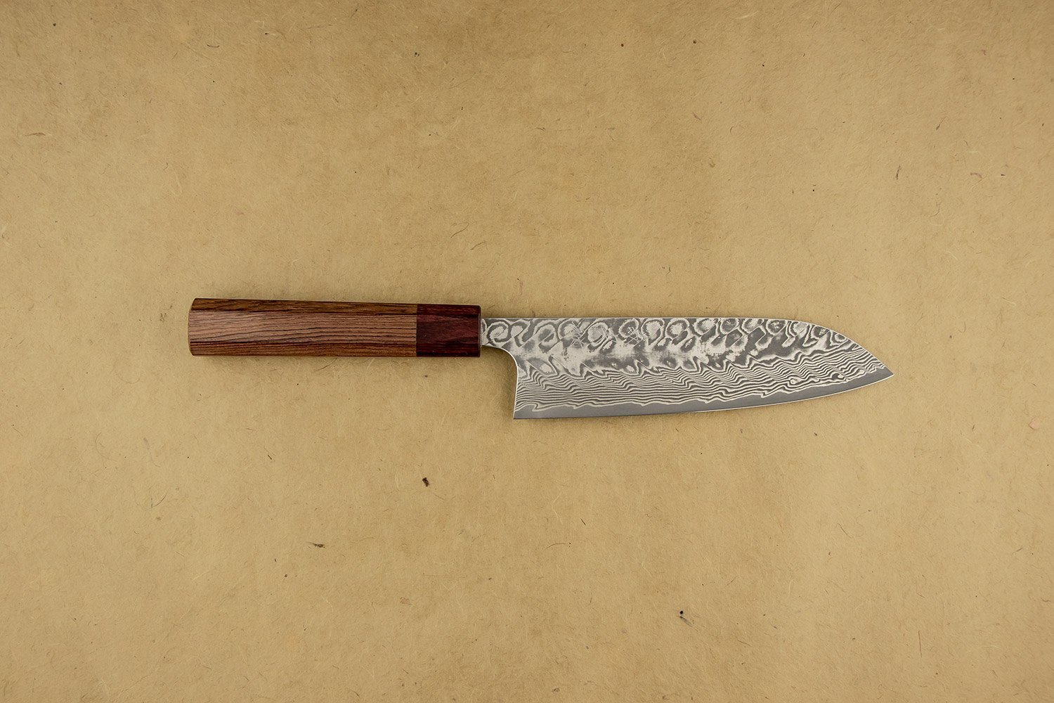 Yoshimi Kato SG2 Nickel Damascus Black Santoku 165mm