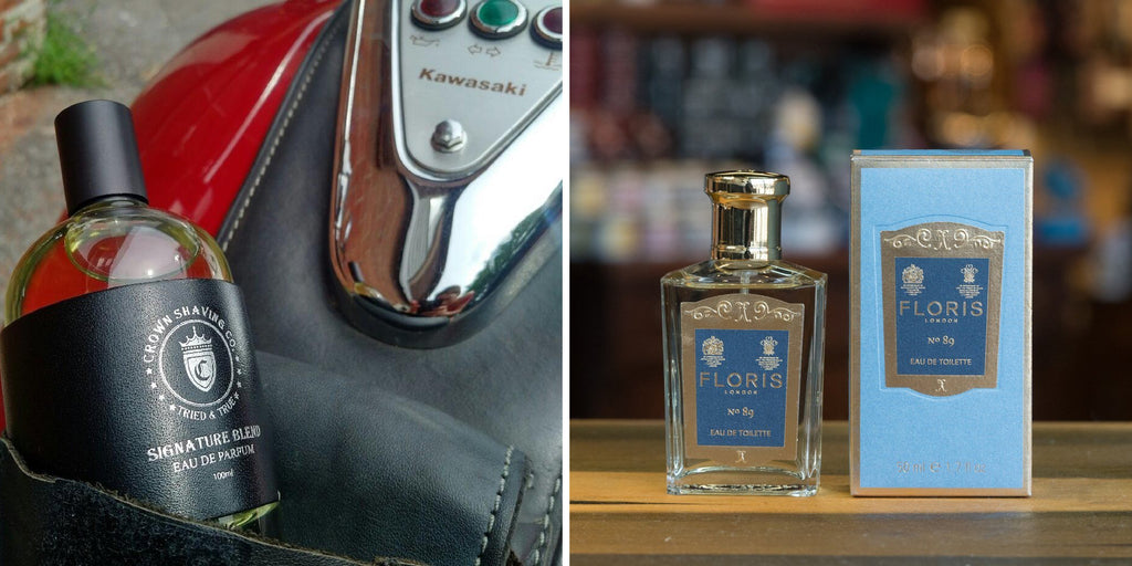 Left: Crown Shaving Eau de Parfum  - Right: Floris No. 89