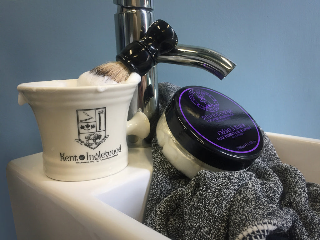 Castle Forbes Lavender Oil Cream and Kent of Inglewood Mug and Shaving Brush