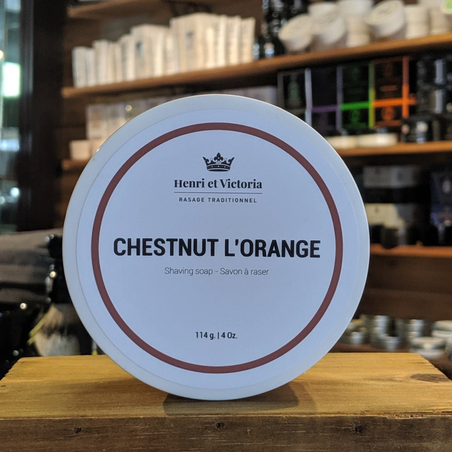 Henri et Victoria - Chestnut L'Orange Vegan Shave Soap