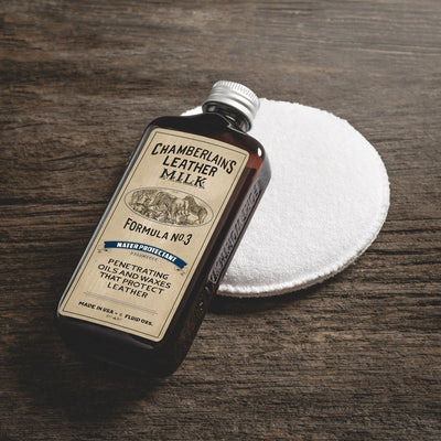 Chamberlain's Leather Milk - Leather Water Protectant No.3 6oz w/ Applicator Pad