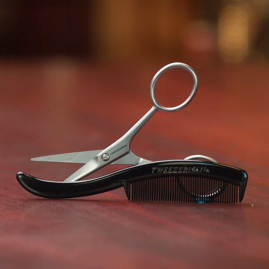 Tweezerman G.E.A.R. Moustache Scissors and Comb