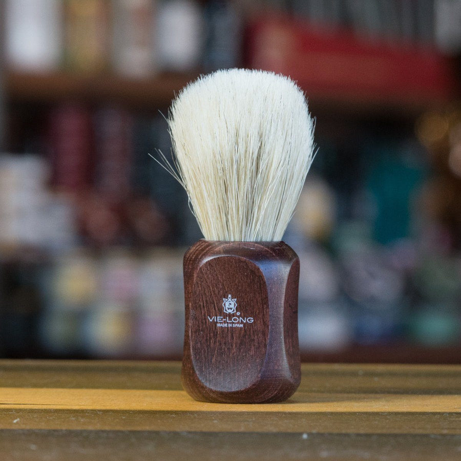 Vie-Long Horse Hair Shaving Brush Dark Red wood handle