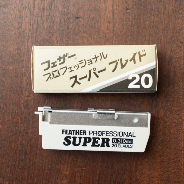 Feather Artist Club Professional Super Blades, Tan Pack of 20