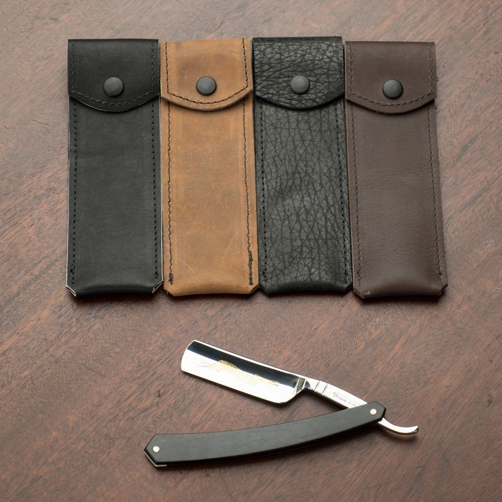 Horace & Jasper Leather Straight Razor Case