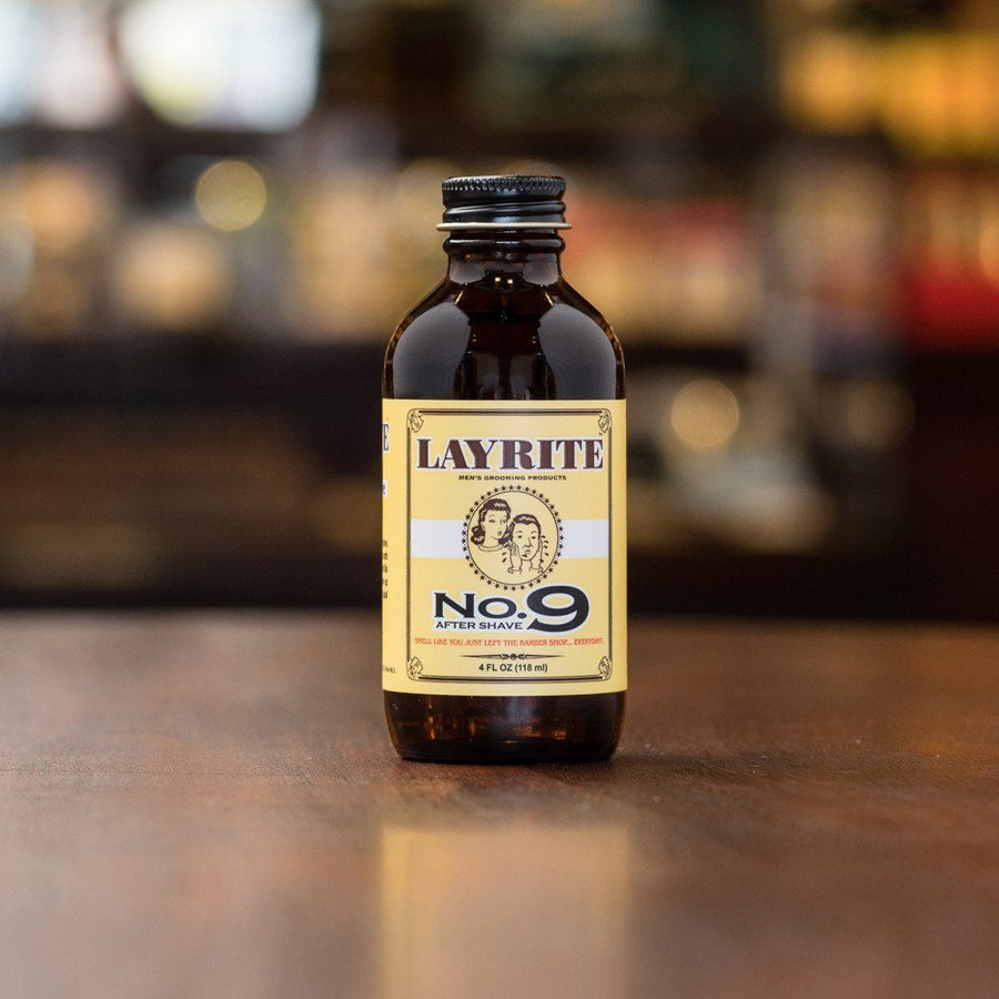 Layrite No. 9 Bay Rum Aftershave 4oz Bottle