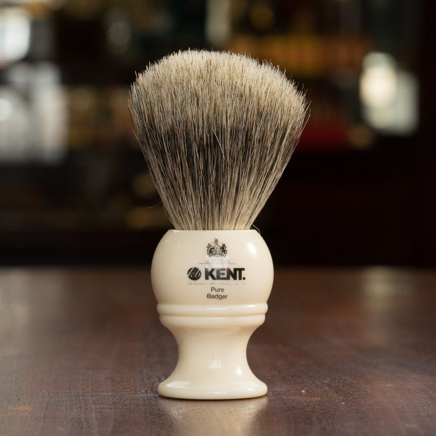 Kent of England Shaving Brush, Pure Badger, Medium Size