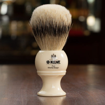 Kent of England Shaving Brush, Pure Silvertip Badger, Large Size