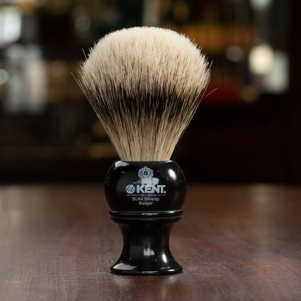 Kent of England Shaving Brush, Pure Silvertip Badger, Medium Size
