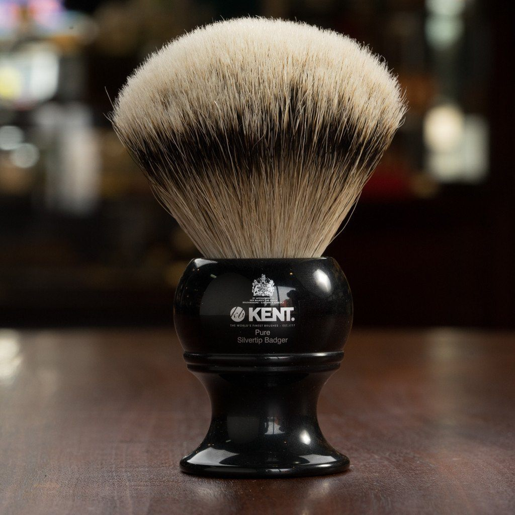 Kent of England Shaving Brush, Pure Silvertip Badger, King Size