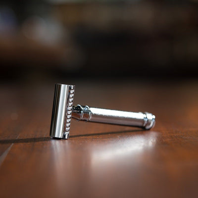 Edwin Jagger Double Edge Safety Razor, Barley Handle