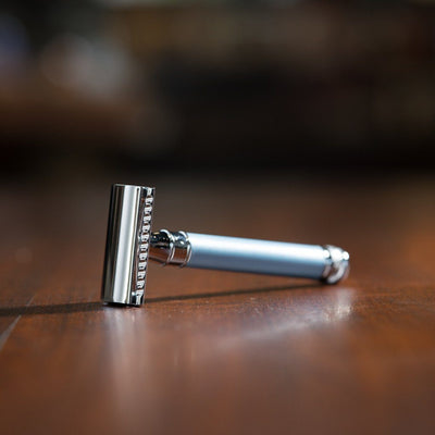 Edwin Jagger Double Edge Safety Razor, extra long handle
