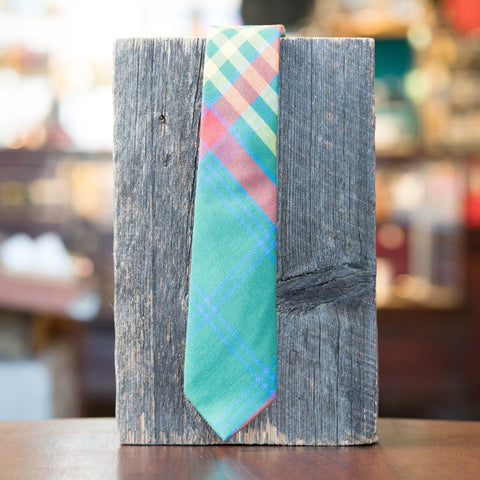 LVJ Haberdasher Green, Red & Yellow Plaid Brushed Cotton