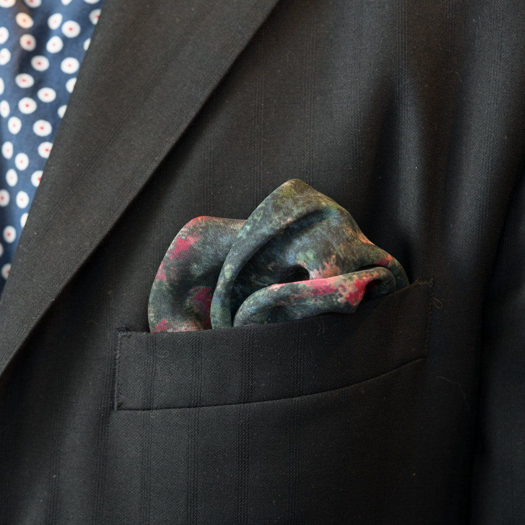 LVJ Haberdasher The Monet Silk Pocket Square