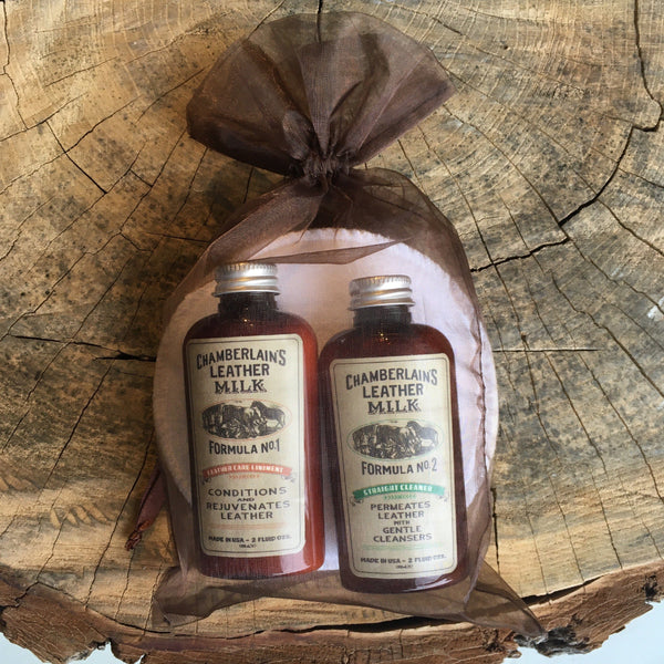 Chamberlain's Leather Milk - Gift Pack - Leather Care No 1 and Cleaner No 2