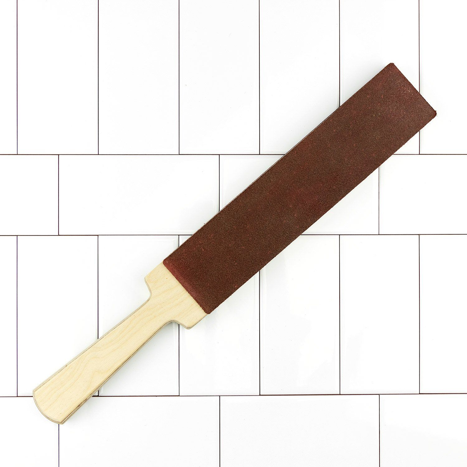 Leather Paddle Strop, Latigo Leather & Suede