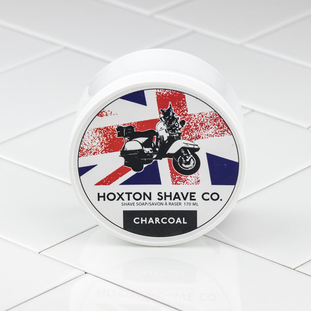 Hoxton Shave Co. Charcoal Shaving Cream in Tub, 177ml