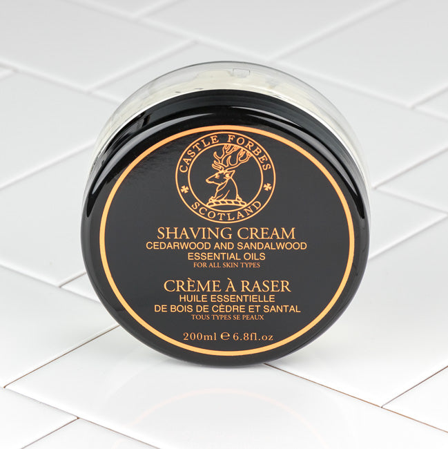 Castle Forbes Cedar and Sandalwood  Essential Oil Shaving Cream 200ml