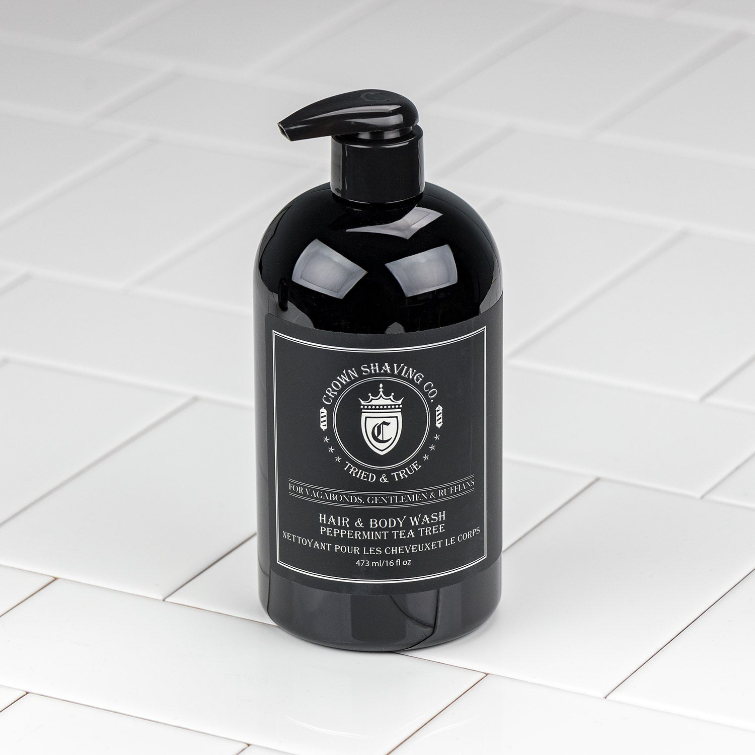 Crown Shaving Co. Hair and Body Wash - Peppermint & Tea Tree Oil