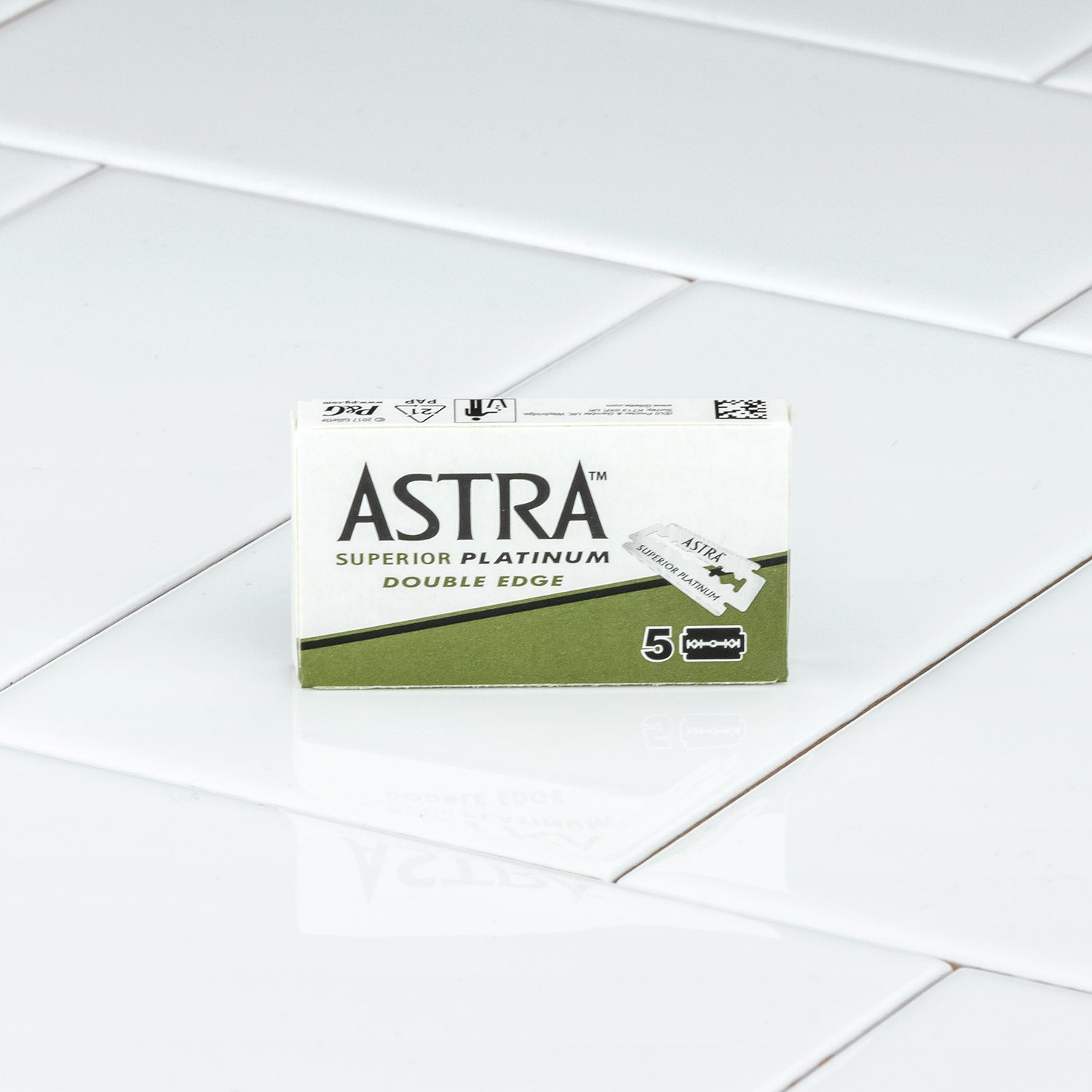 Astra Platinum Double Edge Razor Blades 1 Pack of 5 Blades