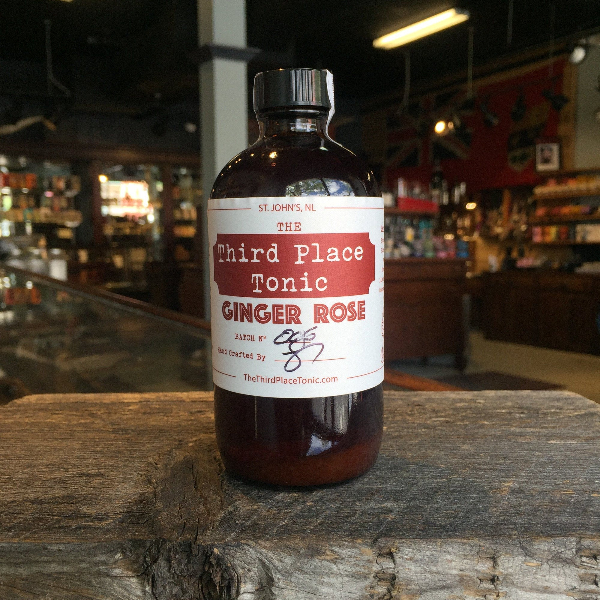 Third Place Artisanal Tonic Syrup, Ginger & Rose 8oz Bottle