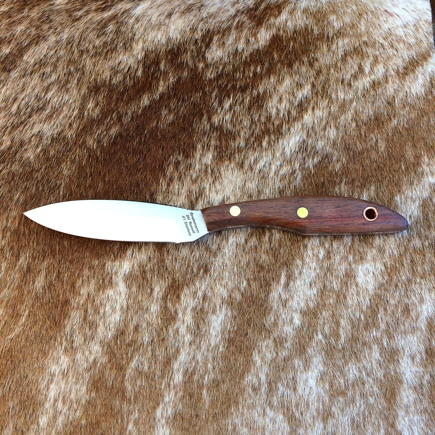 Grohmann D.H. Russell Belt Knife with Rosewood Handle