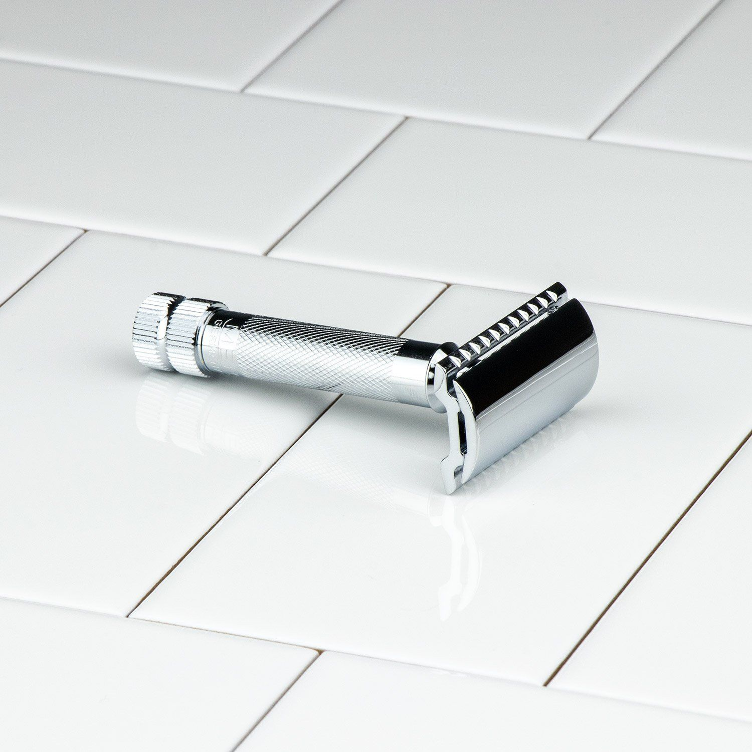 Merkur Double Edge Safety Razor, Straight Cut, Extra Thick Handle, 34C