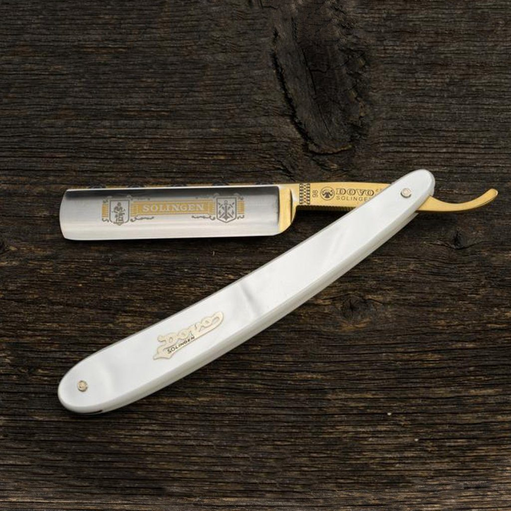 Dovo Pearl Straight Razor, Imitation Pearl Handle, 5/8""