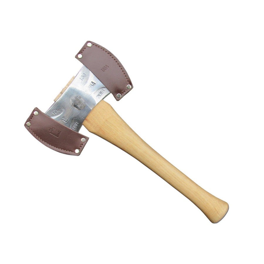 "Council Tool 2lb Premium Double Bit Axe, 16"" Straight Handle"