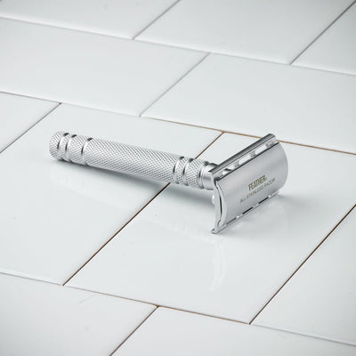 Feather AS-D2 Stainless Steel Double Edge Safety Razor