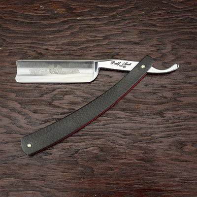 Ralf Aust Straight Razor w/ Spanish Point, Carbon Fibre Scales, 6/8""