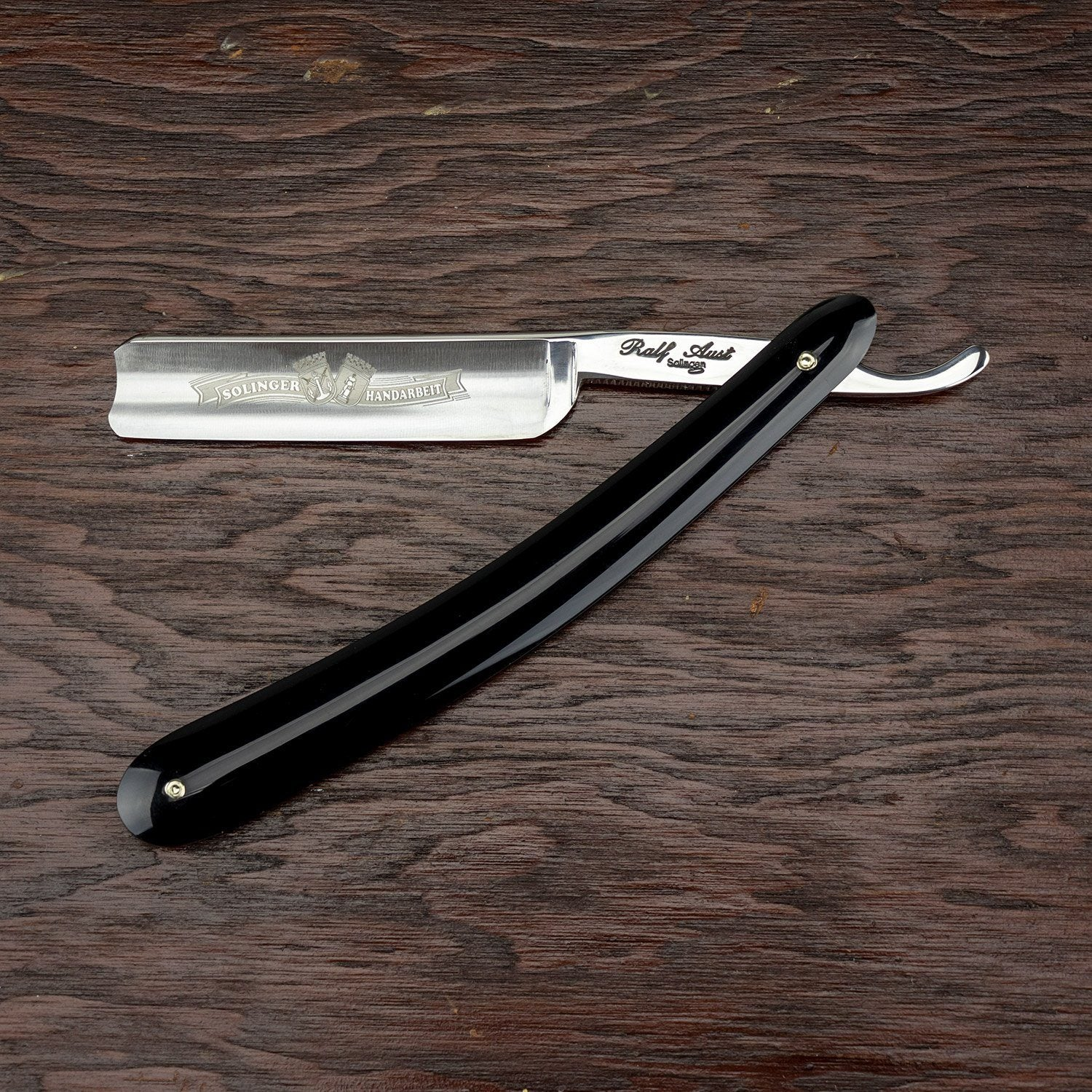 Ralf Aust Straight Razor w/ Spanish Point, Plastic Scales Scales, 5/8""