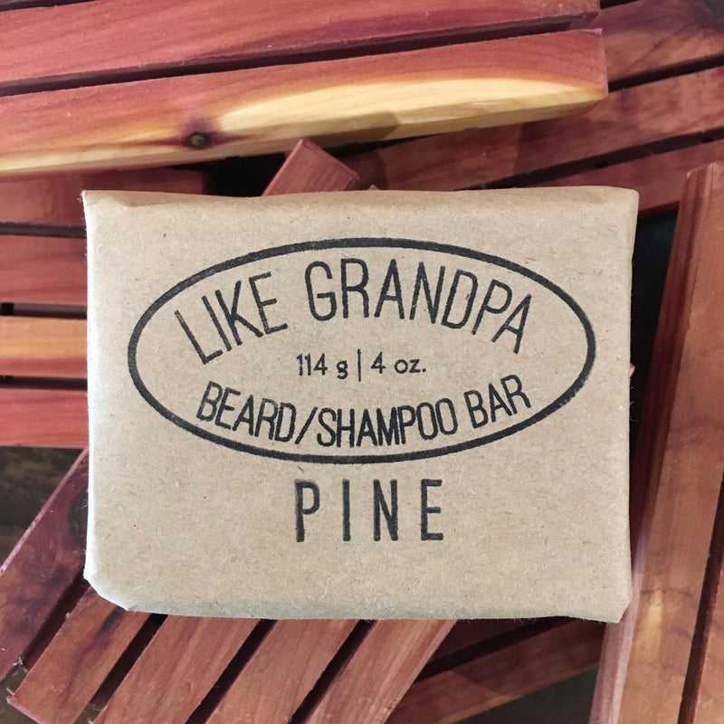 Like Grandpa Beard Wash and Shampoo Bar - Pine 114g