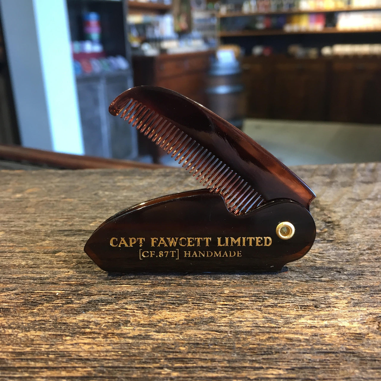 captain fawcett 39 s folding pocket moustache comb 117mm from. Black Bedroom Furniture Sets. Home Design Ideas