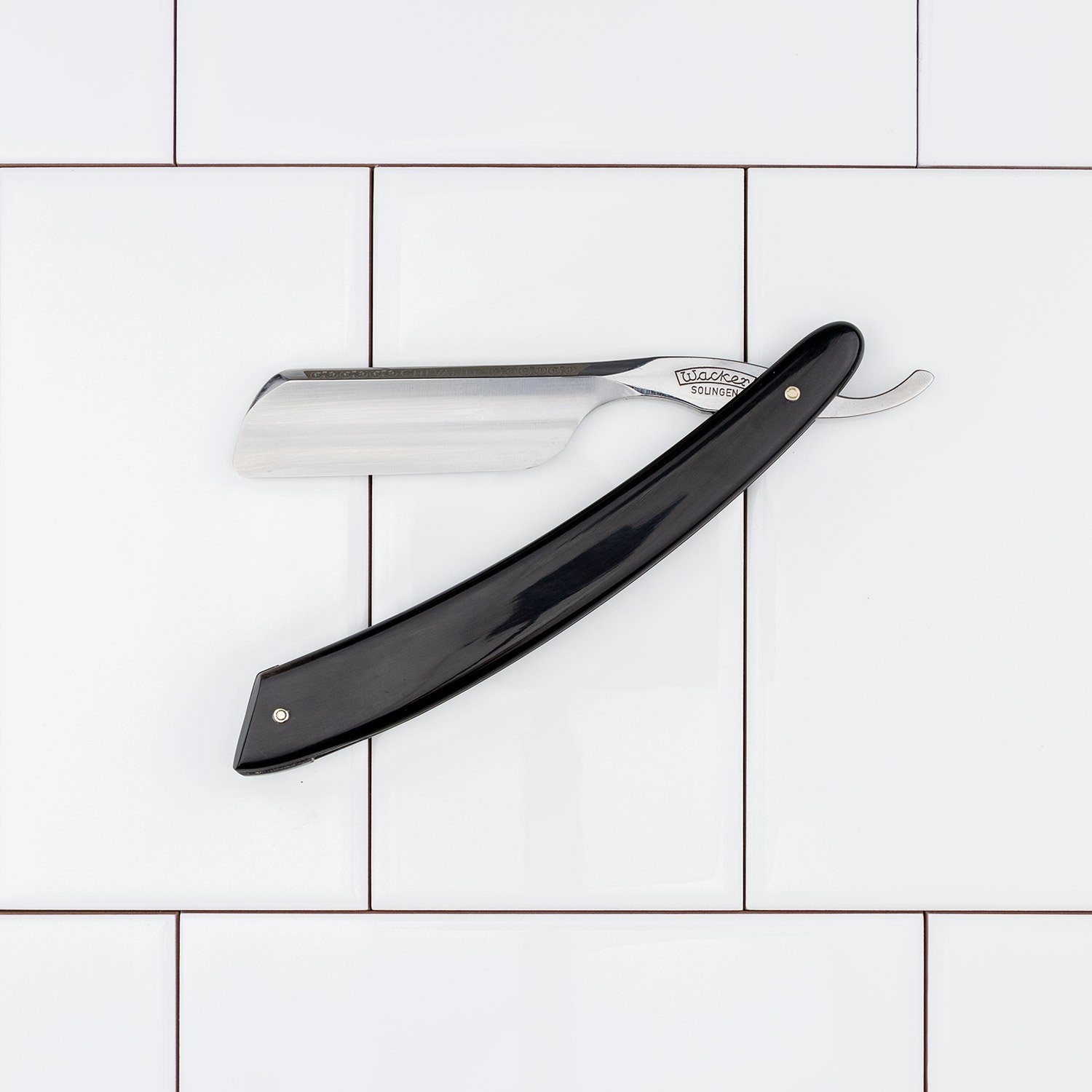"Wacker ""Chevalier"" Straight Razor w/ French Point, 6/8"""