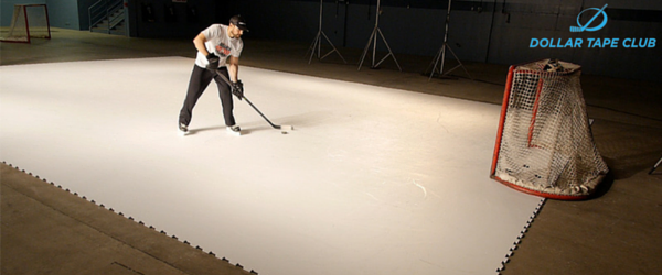 Synthetic ice hockey