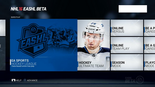 Image of 2016 EASHL on Xbox