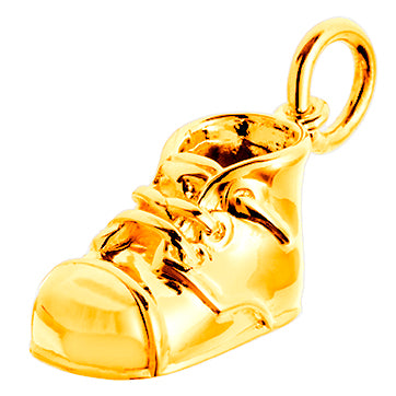 Gold Baby Bootie