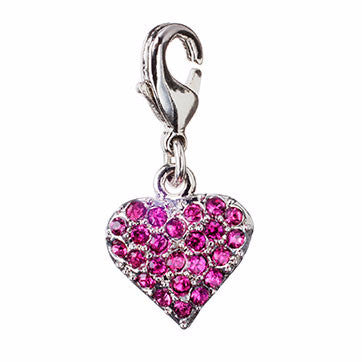 Girls Pave Heart Charm
