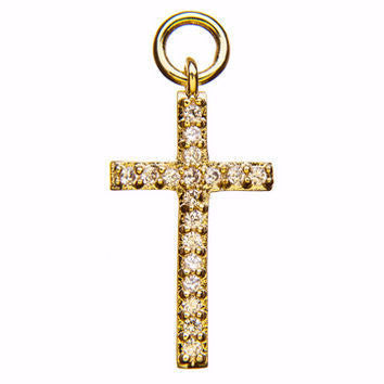 Pave Gold Cross