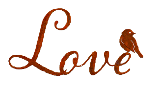 "W109 | ""Love"" Script Wall Art - Elegant Garden Design"