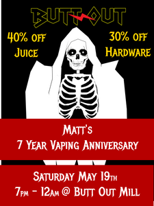 Matt's 7 Year Vaping Anniversary