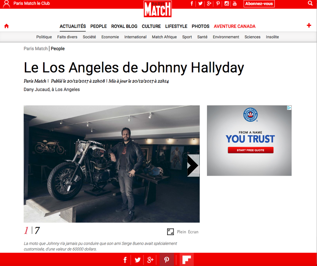 JOHNNY HALLIDAY AND HEROES MOTORS