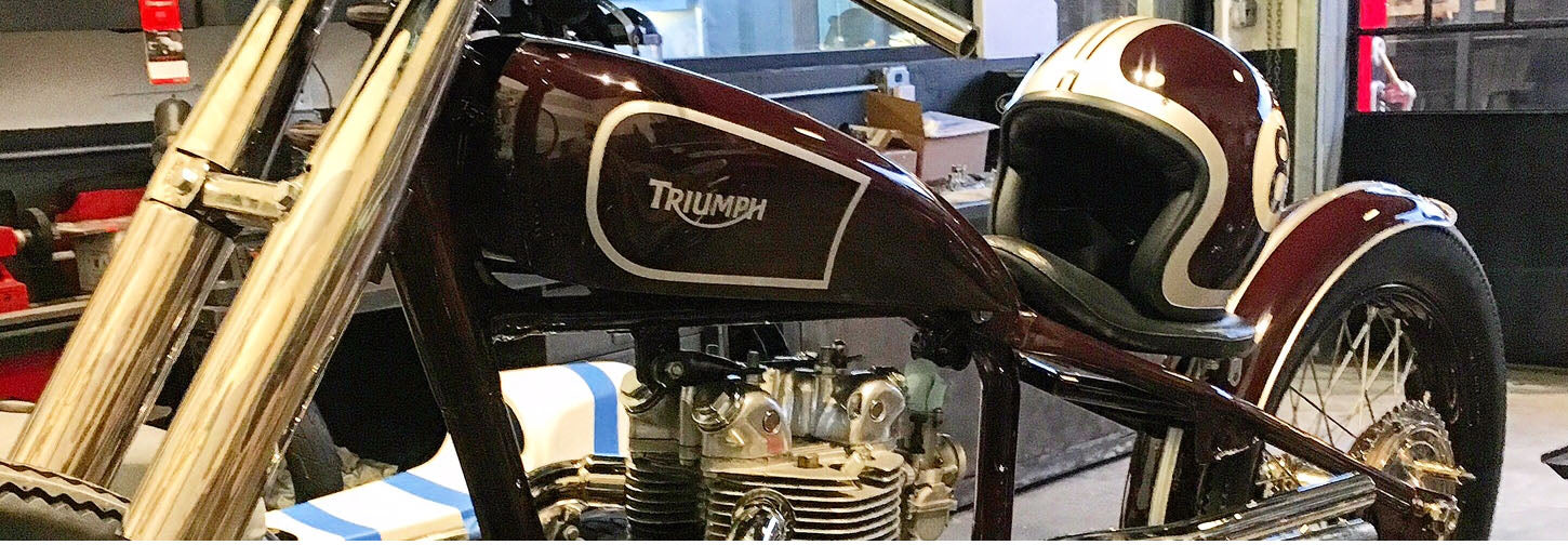 triumph motorcycle custom paint