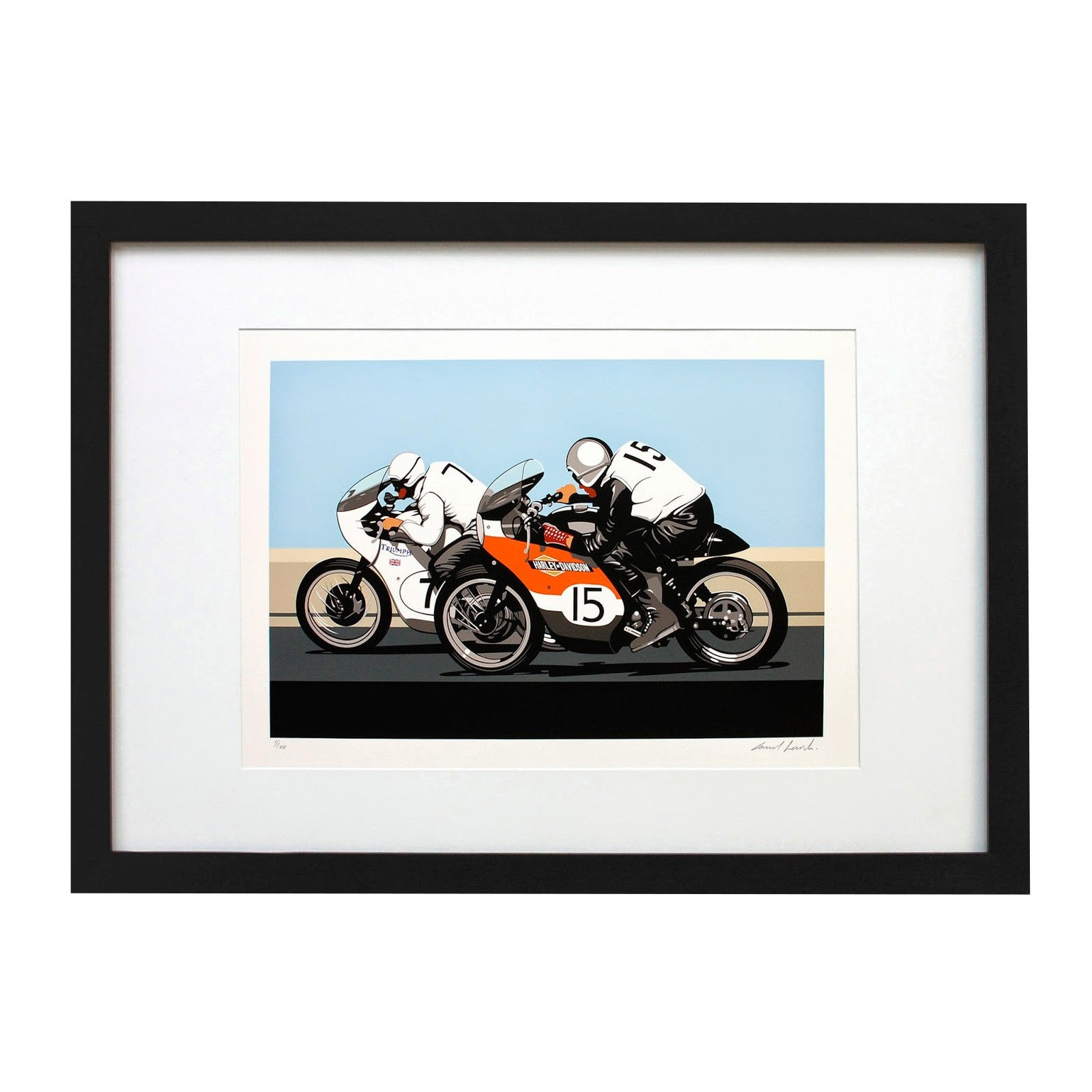 GLOVES OFF LIMITED EDITION PRINT - Heroes Motorcycles
