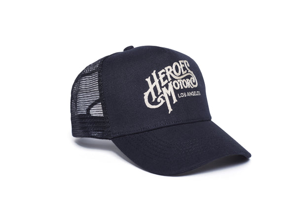 Heroes Motors Trucker Hat Cornely Black - Heroes Motorcycles