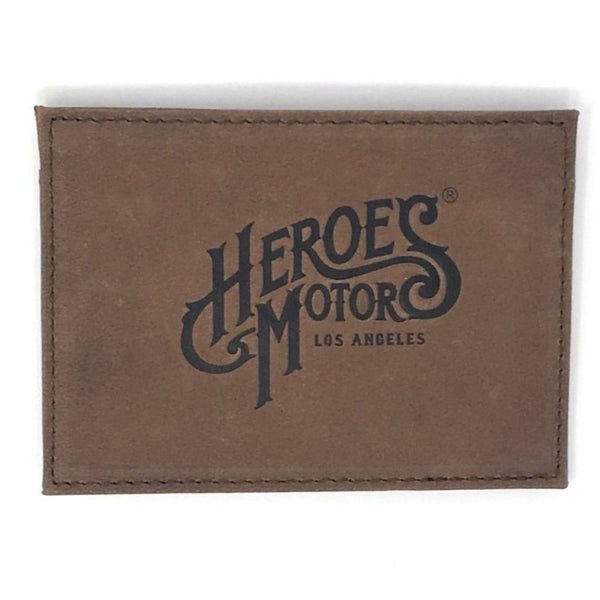 Heroes Leather Card Holder - Heroes Motorcycles